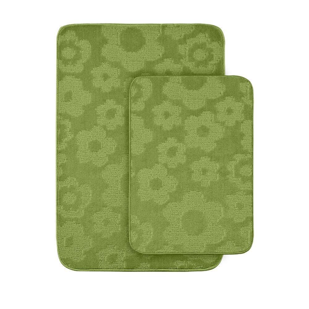 Get Quotations Petal Lime Green Bath Rug Set Of 2