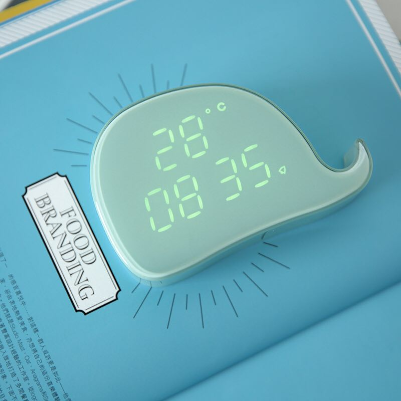 Attractive Whale Shape Transparent Table Alarm Clock Happy Good Birthday Gifts for Girls