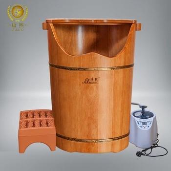 Wooden Foot Bath Bucket Foot Spa Tub Electric Foot Steamer