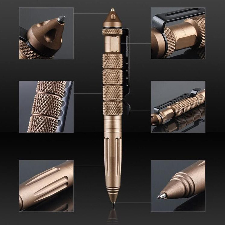 aluminum tactical pen portable self defense products emergency tool with glass breaker