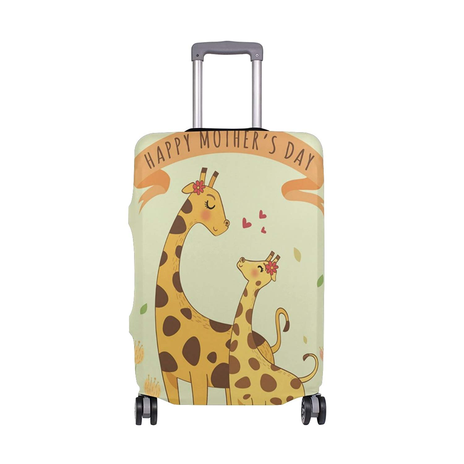 Washable Foldable Luggage Cover Protector Fits 18-21 Inch Suitcase Covers Cute Colorful Rainbow Unicorn