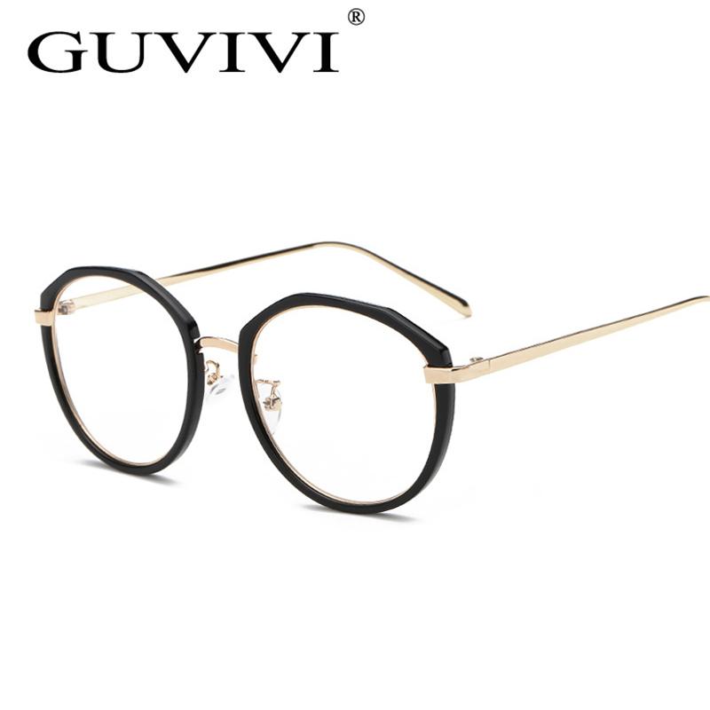 2016 mujeres Gafas de metal marco óptico claro gafas de prescripción ...