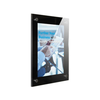 Wall mounted black border acrylic photo frame A4 perspex picture frame holder