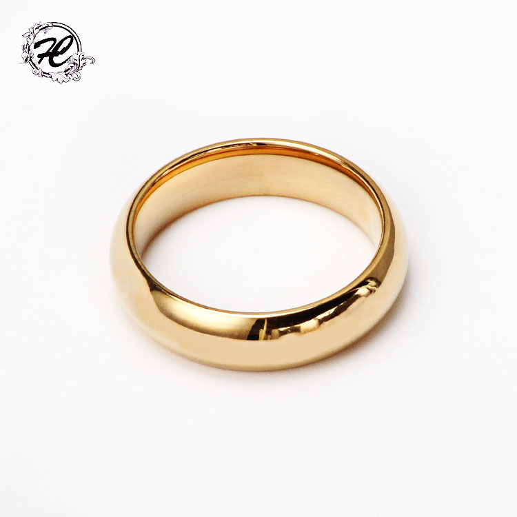 High pilishing smooth Stainless steel latest simple gold ring ...
