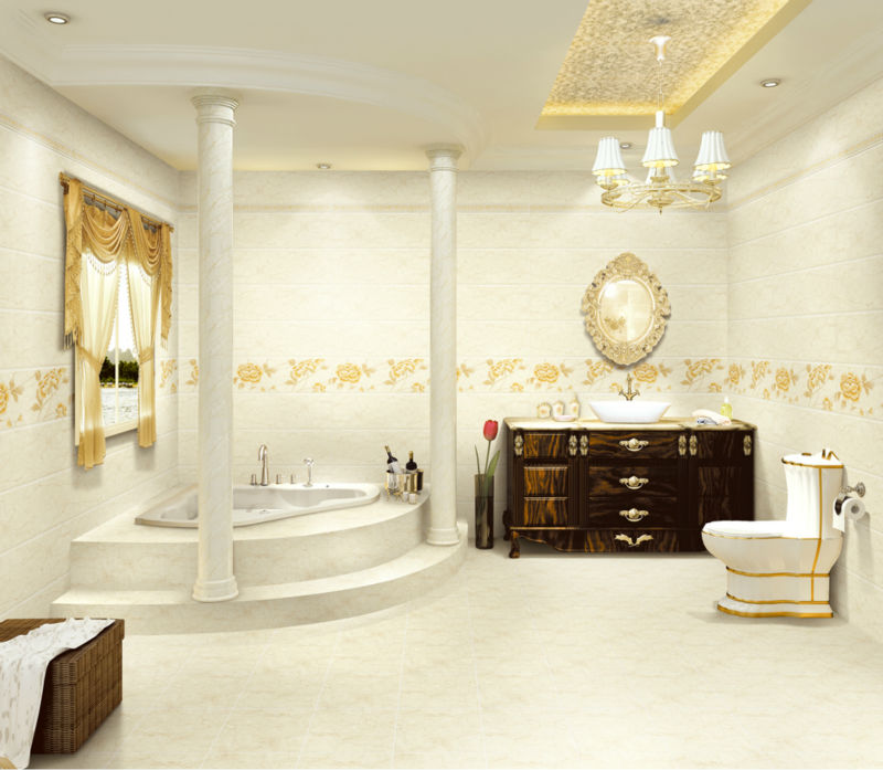 Marble design nano finish composite wall tile 300x600