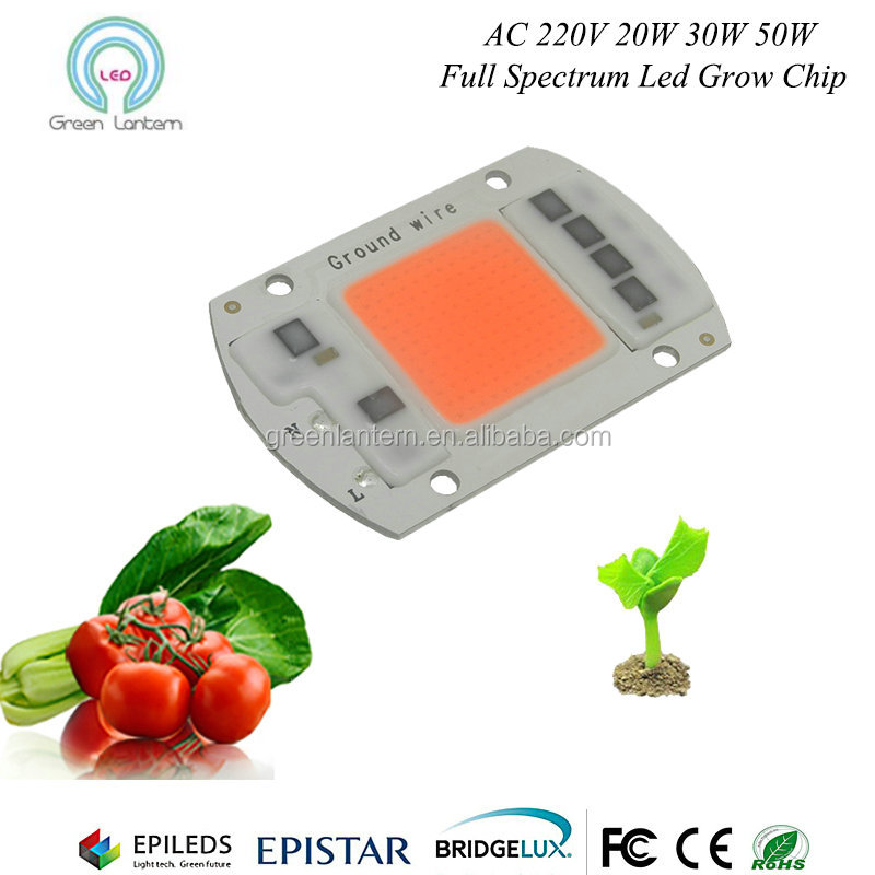 AC 220V Driveless 380nm-840nm 30W 40W 50W Cob Led chip For COB Grow Light