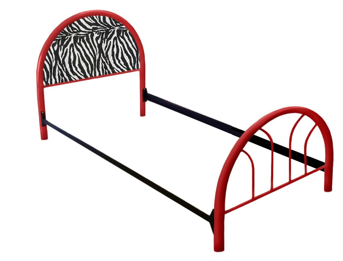 The Furniture Cove New Twin Size Custom Zebra Animal Print Themed Bed Set! Includes Head Board, Foot Board and Mattress Rails!