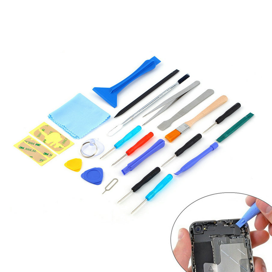 2017 Hot Worldwide 22 in 1 Open Pry mobile phone Repair Screwdrivers Sucker hand Tools set <strong>Kit</strong> For Cell Phone Tablet