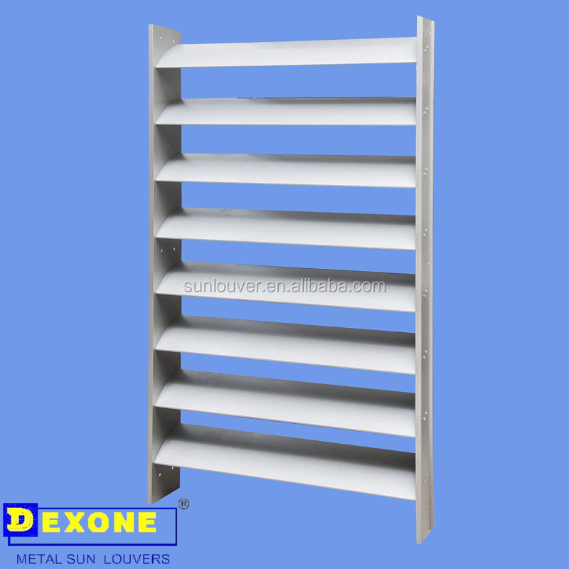 Exterior Sun Shade Aluminium Fixed Louvers As Building