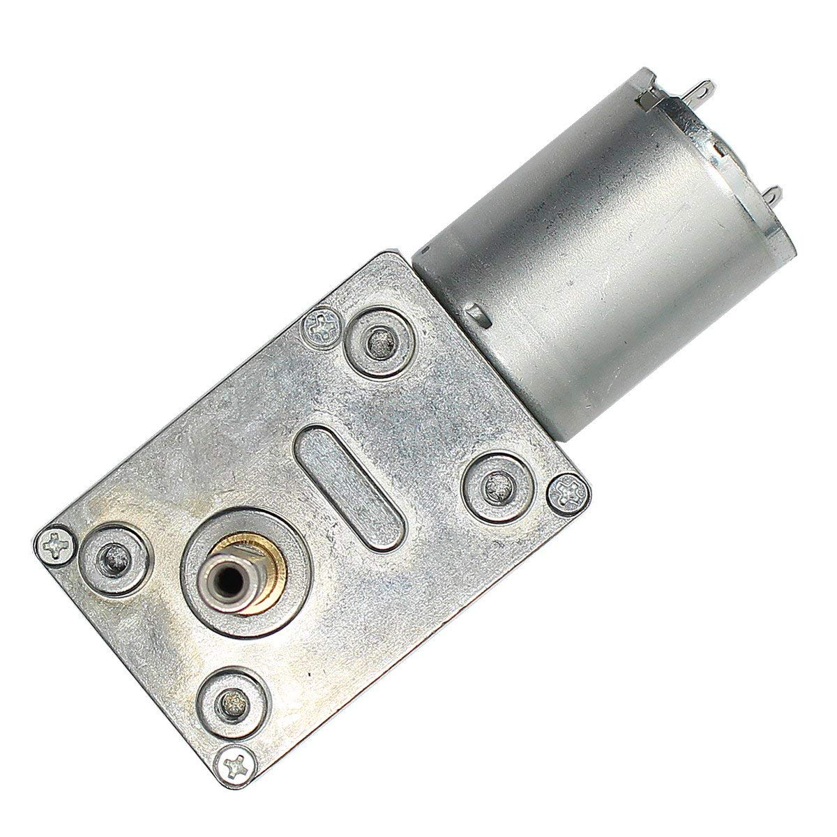 OLSUS DC 6V 30RPM Square Type Mini DC Motor with Gear Torque Locking ABS+ Cu + Fe + steel - Silver