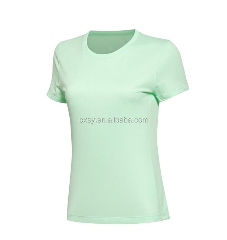 N design custom t shirt screen printing women sportwear for Custom t shirts dry fit