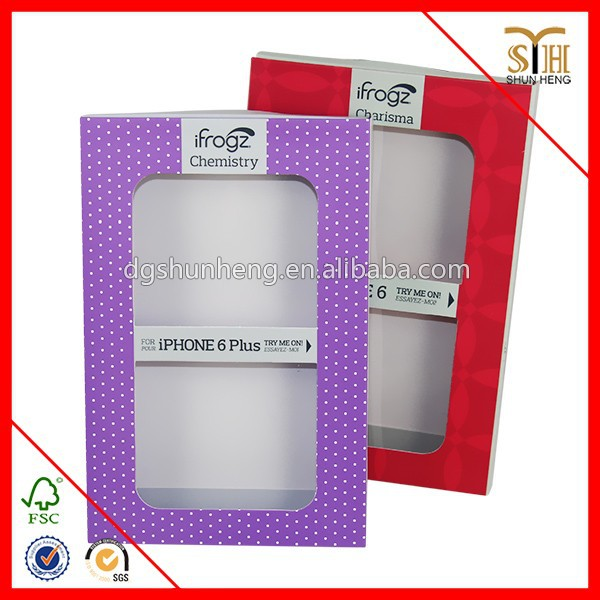 2014 recycled magnetic closure mobile phone case paper box