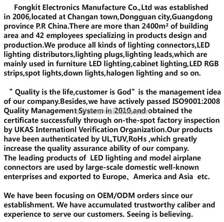 Dongguan Fongkit 4 Pin Led Power Terminal Blocks 6 Way Led Rgb ...