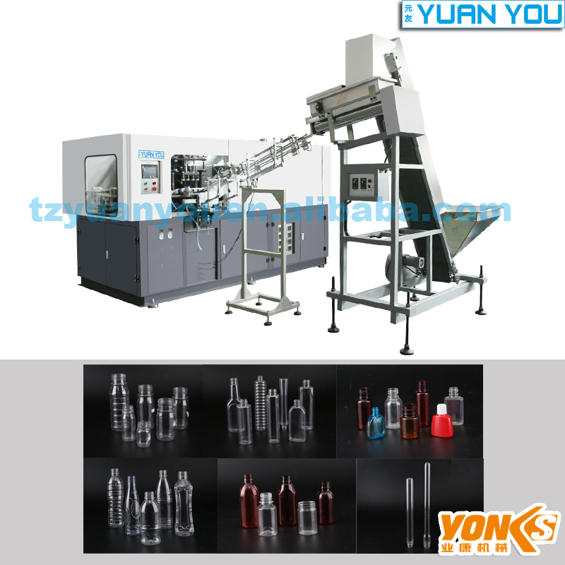 4 cavity Full automatic pesticide bottle blow moulding machine