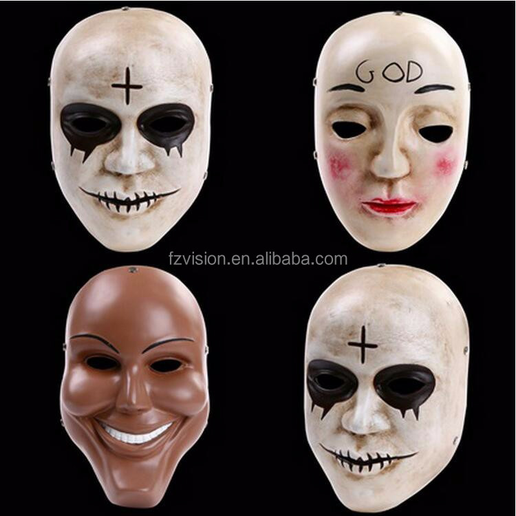 Groothandel cosplay decoratie hars party glimlach masker movie De purge masker