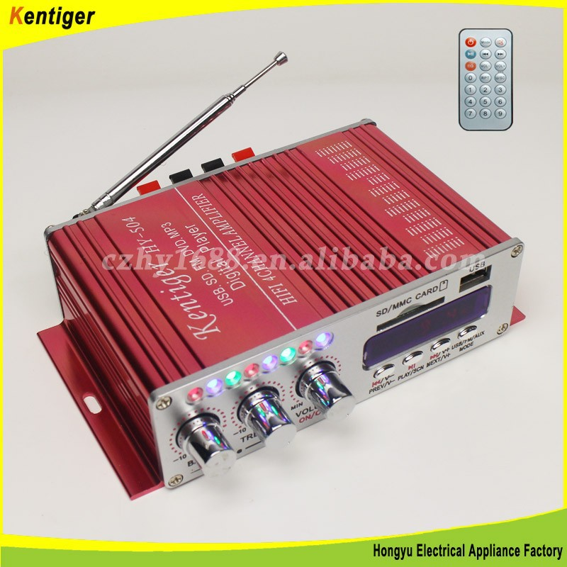 New products 4CH car amplifier with record function