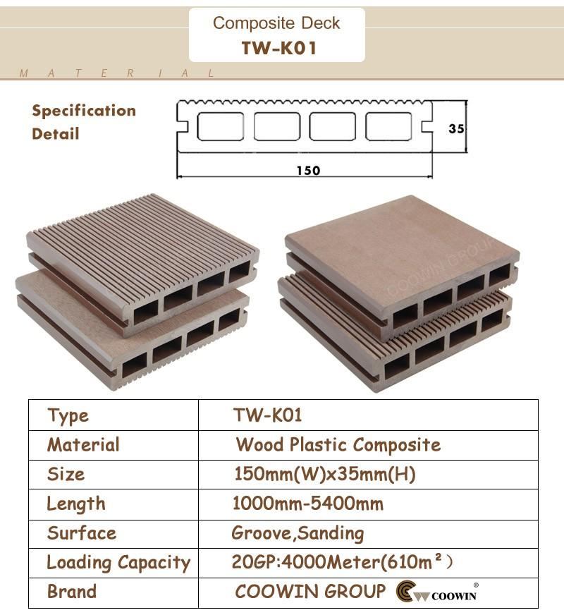 Engineered Flooring Type Fire Rated Wood Plastic Composite