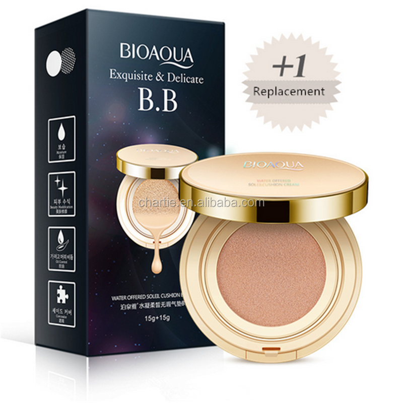 BIOAQUA Immaculate air cushion bb cream Hydrating natural block defect render naked makeup to modify color <strong>cosmetics</strong>