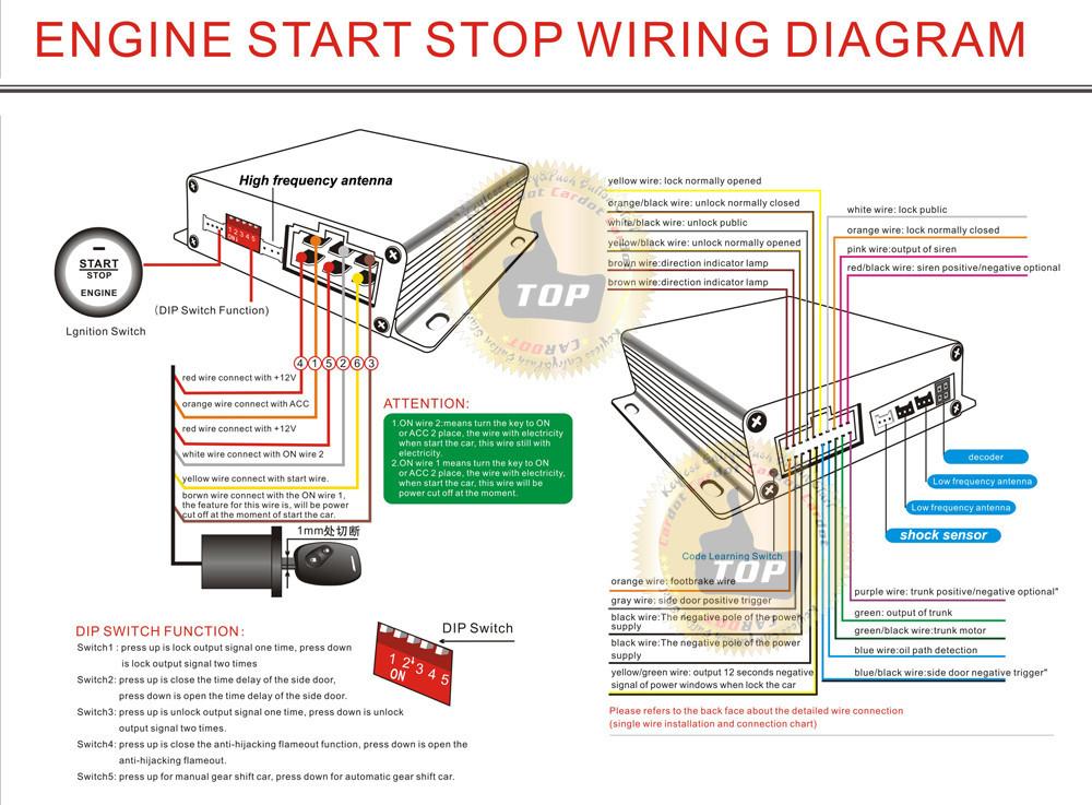 basic key wiring diagram 2019 cardot card smart key car alarm system rfid auto lock ... smart key wiring diagram #9