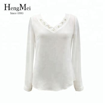 df19ae94c0680 Women Casual White Blouse Designs Net Lace Long Sleeve Top - Buy ...