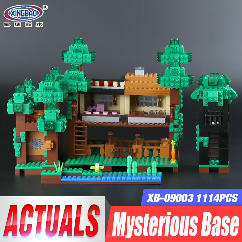 Xingbao 09003 1114Pcs Creative MOC Series The Mysteries of Base Set Building Blocks Bricks Child Educational Toys Model Gifts