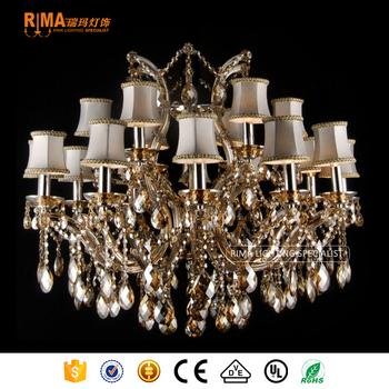 Baccarat lustre de cristal chandelier lighting large cognac crystal chandeliers with 18 light