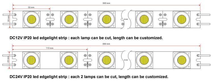 hot sale led edge lit bar led sidelight bar for led lightbox smd3030 strip aluminum profile led strip light