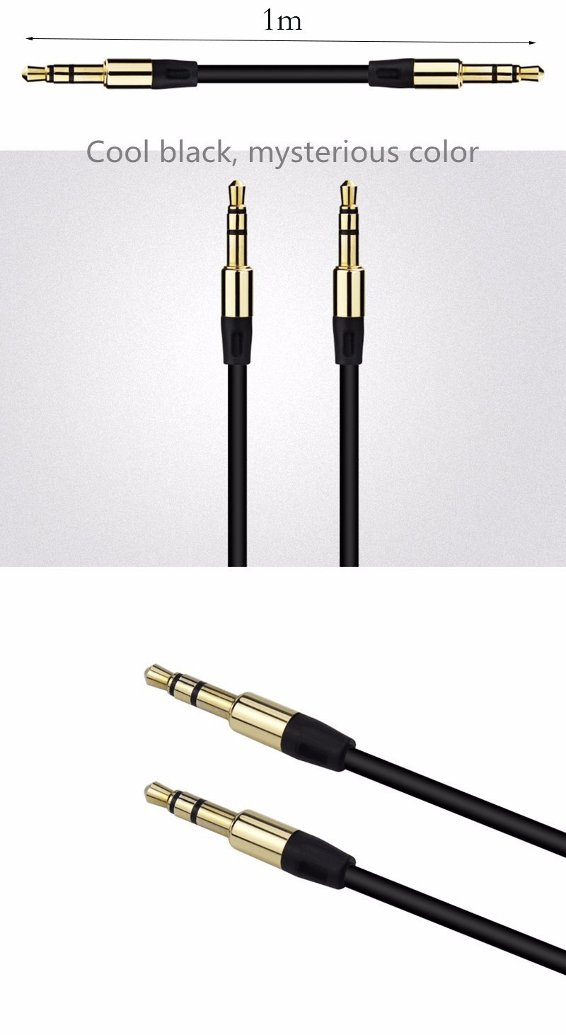 3.5mm Pria Pria Audio Kabel Jack 3.5mm Aux Kabel Datar untuk Mobil iPhone Samsung MP3/4 Headphone Ponsel Speaker Aux kabel