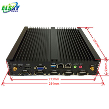 Fanless Embedded Industrial Computer based on Celeron 1037U supports 6xRS232 and 8xUSB With 1 LPT Port (2 WIFI Antenna)