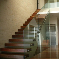 Modern house residential steel indoor stairs/ floating straight staircase