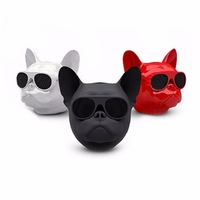 2019 High Quality Stereo Big and Small Dog Head Speaker Mobile Phone Wireless Speaker