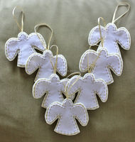 2017 new fashion hotsell eco friendly handmade crafts wholesale decorations USA lowes outdoor felt Christmas angel made in China