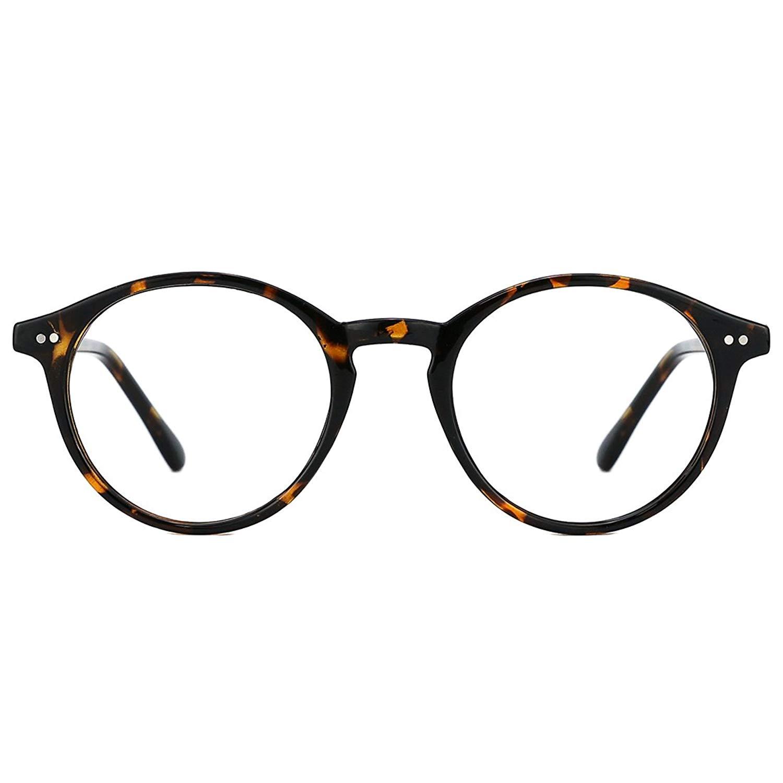c3f894e959 Get Quotations · TIJN Vintage Women Thick Round Rim Non-prescription Glasses  Eyeglasses Clear Lens