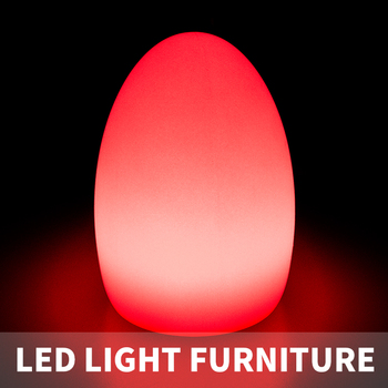 Battery Operated Led Table Light Rechakrgeable Flashing Egg Lamp