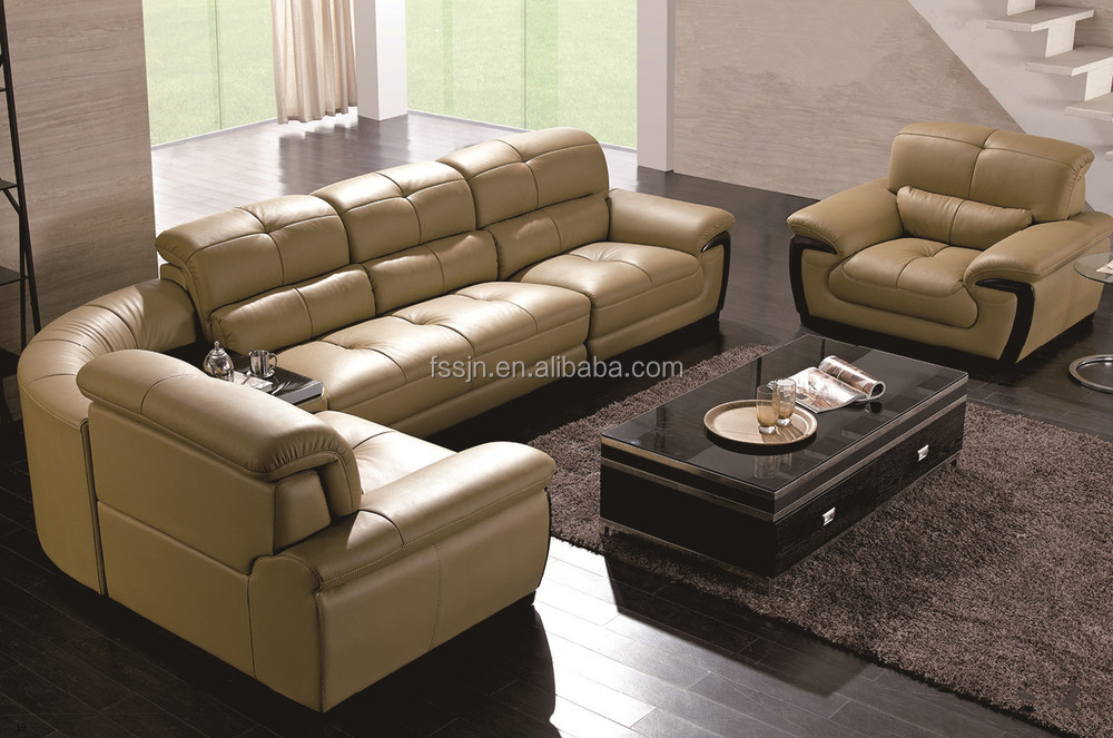 Modern leather sofa set l085 buy modern sofa set 7 for Leather sofa 7 seater