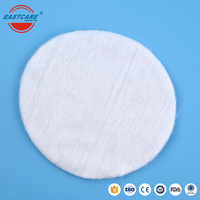 Wholesale round shape 8cm diameter women high quality spunlace personal care 100% natural pure make up cosmetic cotton pads
