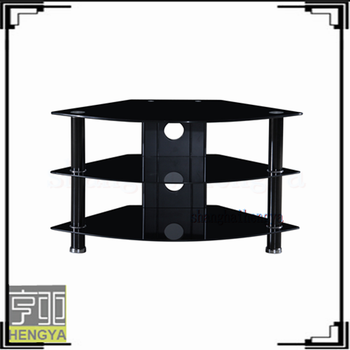 Cheap 3 Tier Triangle Tempered Glass Tv Stands Buy 3 Tier Tempered