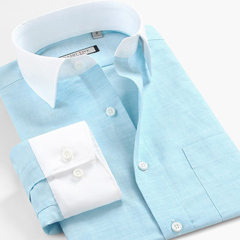 high quality men chinese collar shirts from china
