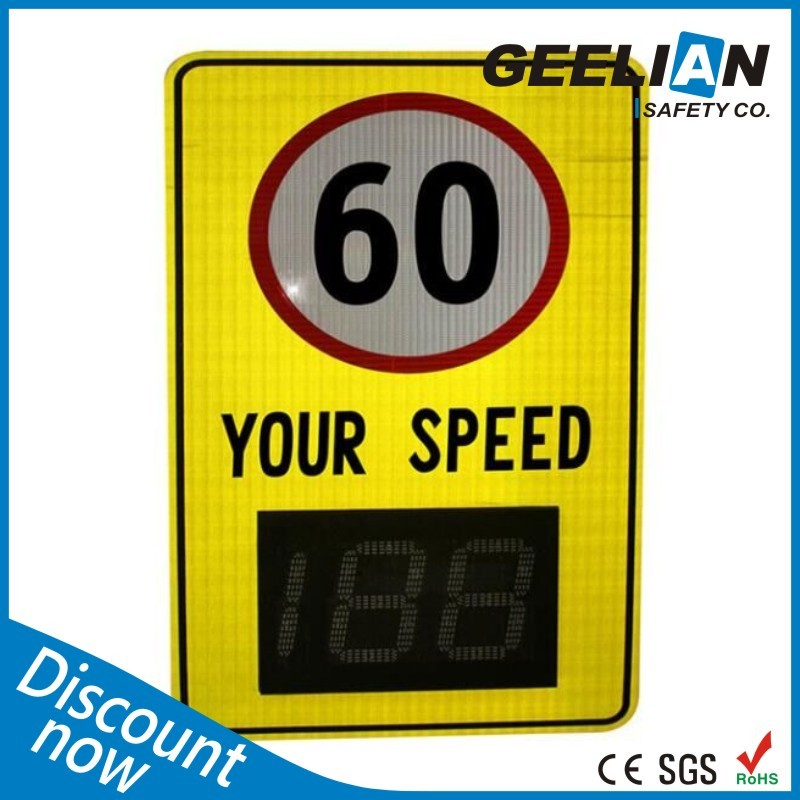 European  Stype Hot Item Customized  Radar your speed detector control warning solar LED signs