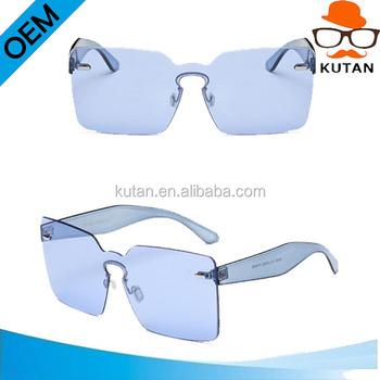 ef01f00510b Lady Candy Oversized Square Rimless Sunglasses Women Men Vintage Fashion  Brand Designer Big Clear Sun Glasses