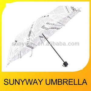 New invention news paper umbrella foldable