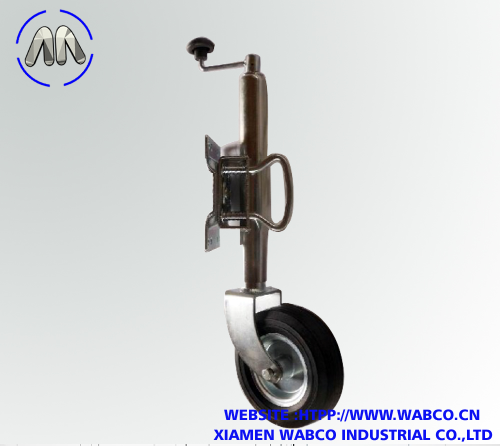 Trailer Jack with 6inches Rubber Wheel Jockey Wheel