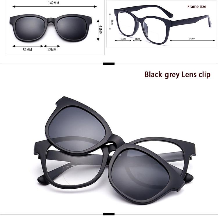 aaa72fc718 2017 heißer verkauf neue stil polarisierte klipp auf sonnenbrille set  magnet lesebrille nachtsicht magnetische clip on