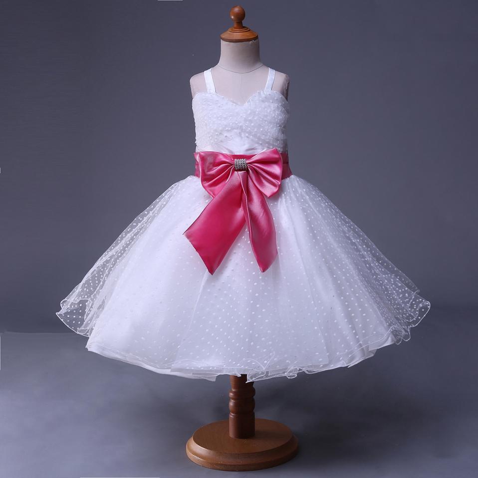 Venta al por mayor vestido de fiesta para niña blancos largo-Compre ...