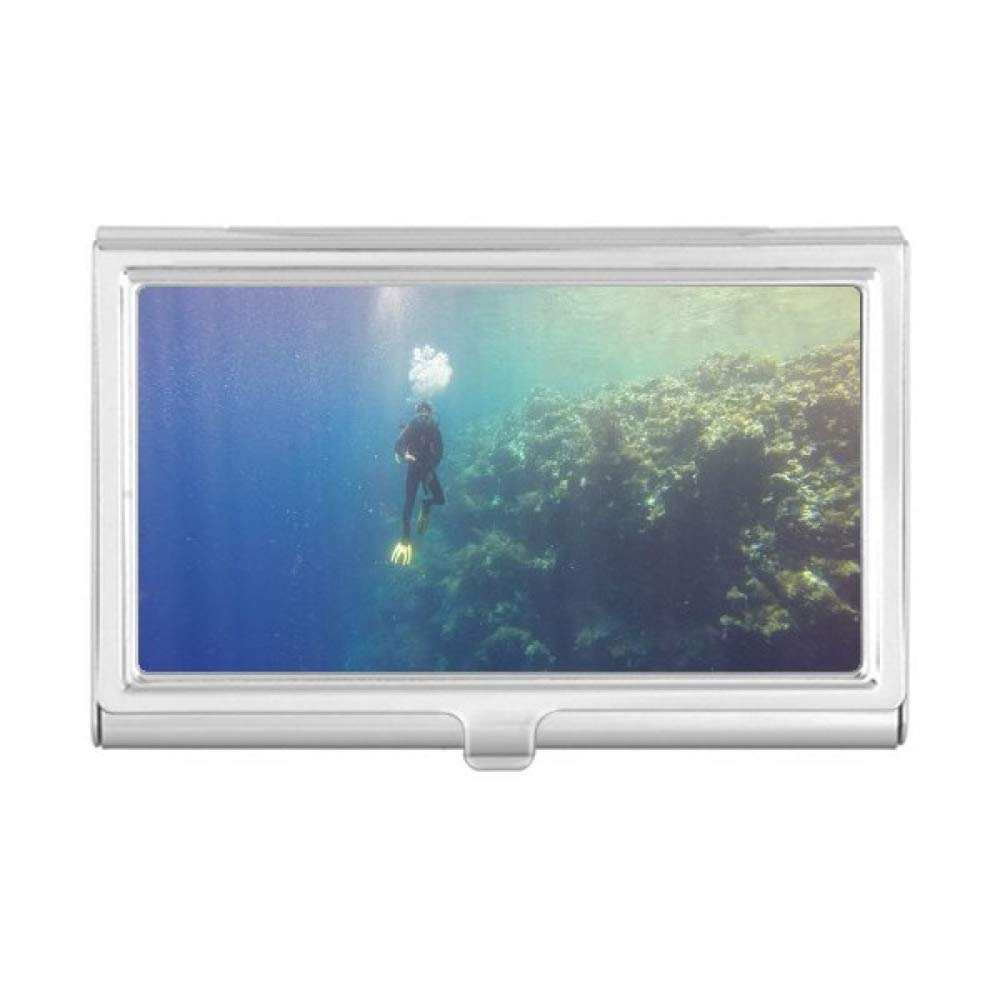 Ocean Water Diving Science Nature Picture Business Card Holder Case Wallet