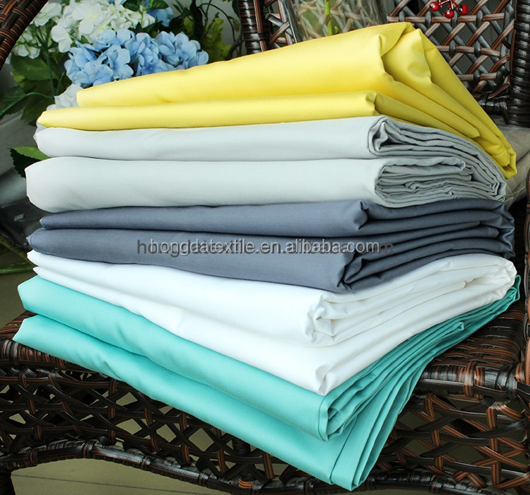china supply 210TC poly50% cotton 50% plain white star hotel bed sheet fabric ,sheeting fabric