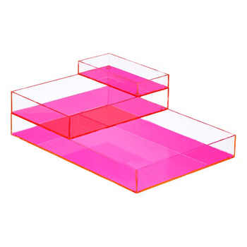 colored acrylic stackable office paper tray plexiglass file letter