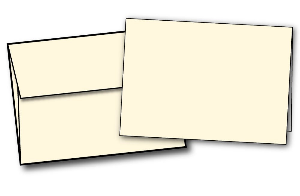 Get Quotations Heavyweight Small Blank Cream Natural Off White Greeting Card Sets