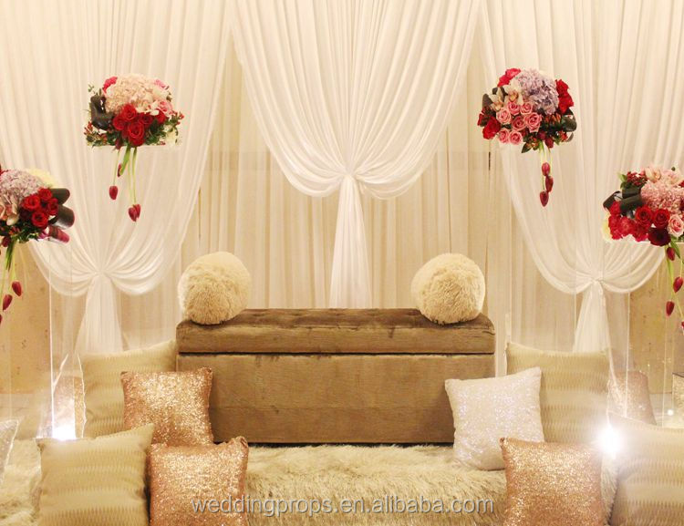 Cheap wall decoration design wedding drape backdrop for wedding events