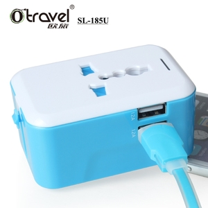 Newest Travel Adapter south africa power plug to American Power Adapter With Safety Shutter and dual USB